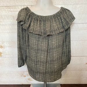 NEW ANN TAYLOR Off Shoulder Ruffle Blouse Size XS